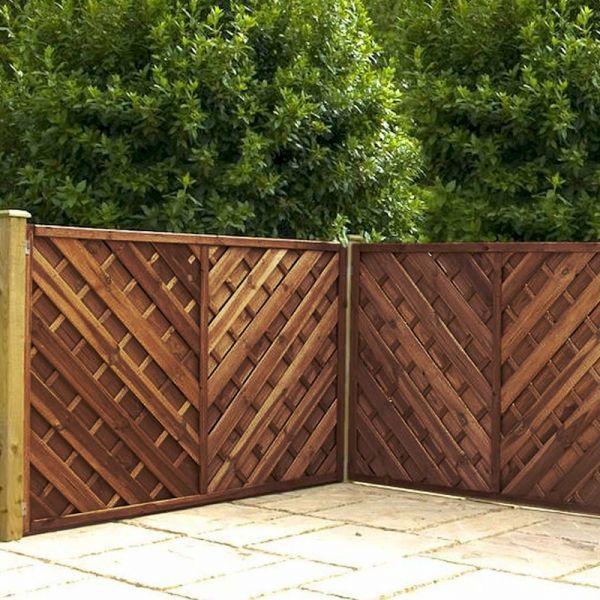 1.2m x 1.8m Chevron Weave Pressure Treated Fence Panel