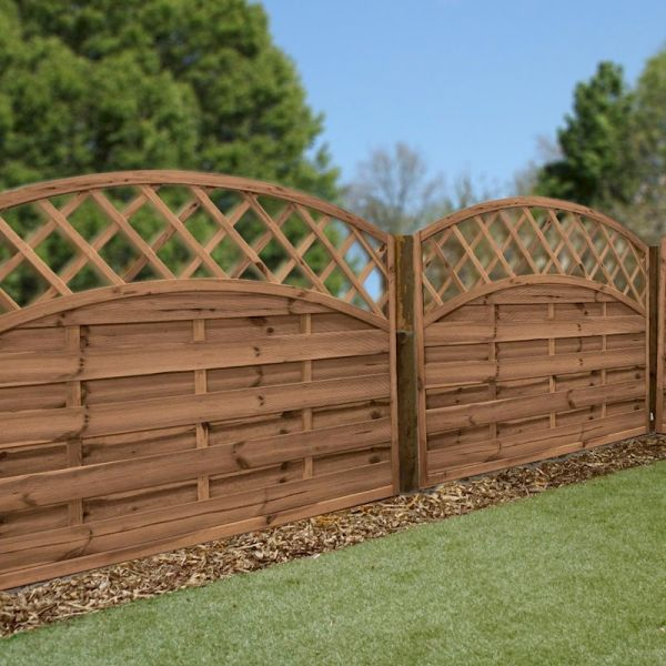 1.2m x 1.8m Horizontal Weave Trellis Convex Pressure Treated Panel