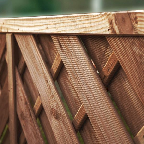 1.8m x 1.8m Chevron Weave Pressure Treated Fence Panel