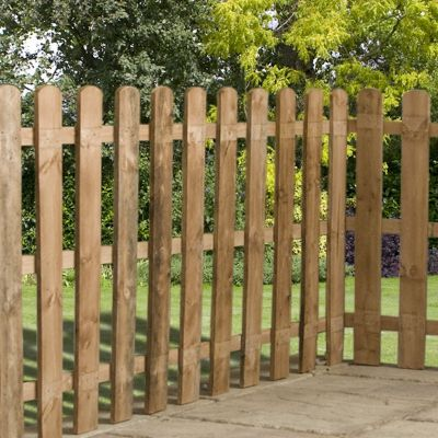 3ft x 6ft Round Top Picket Fence Panel