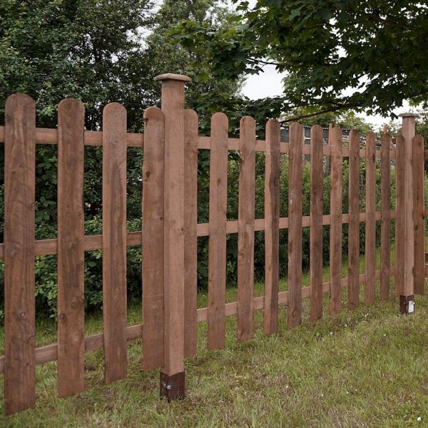 3ft x 6ft Round Top Picket Pressure Treated Fence Panel