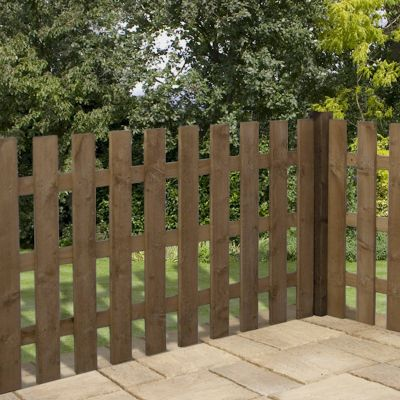 3ft x 6ft Square Top Picket Fence Panel