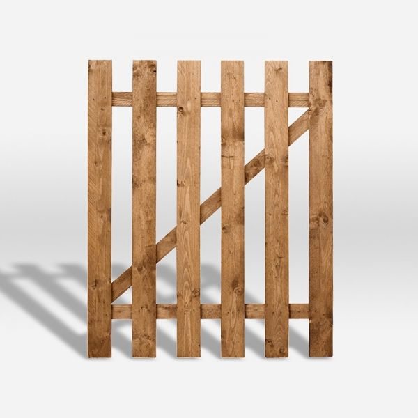 3ft Square Top Picket Pressure Treated Gate