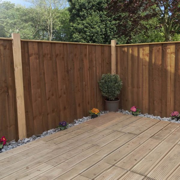 3ft x 6ft Vertical Hit and Miss Pressure Treated Fence Panel