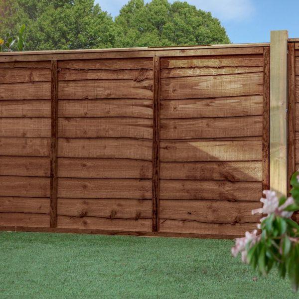 3ft x 6ft Waney Edge Lap Pressure Treated Fence Panel