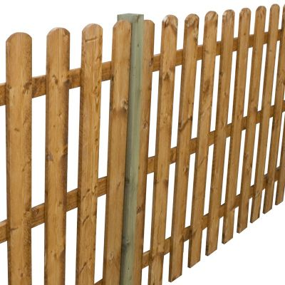 4ft x 6ft Round Top Picket Fence Panel