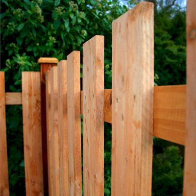 4ft X 6ft Square Top Picket Fence Panel One Garden
