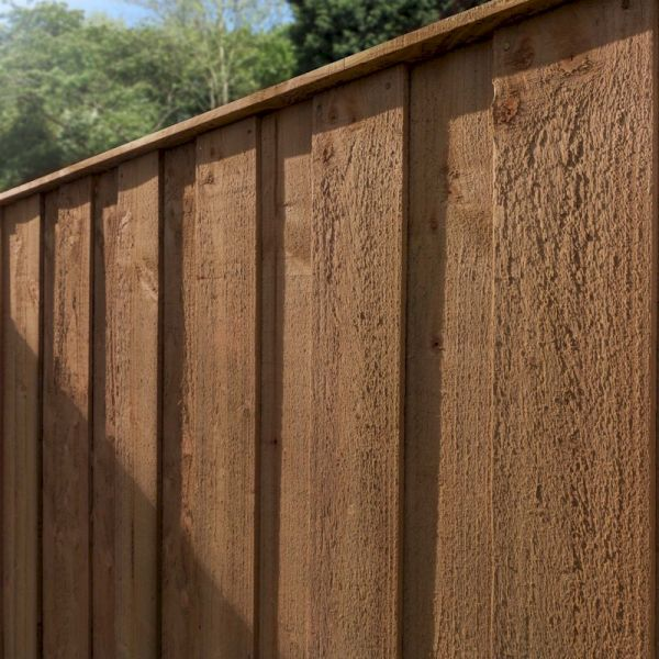 4ft x 6ft Vertical Hit and Miss Pressure Treated Fence Panel