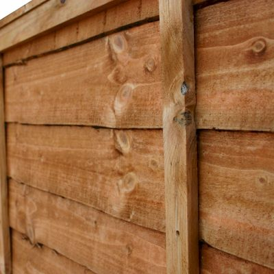 4ft x 6ft Waney Edge Lap Fence Panel