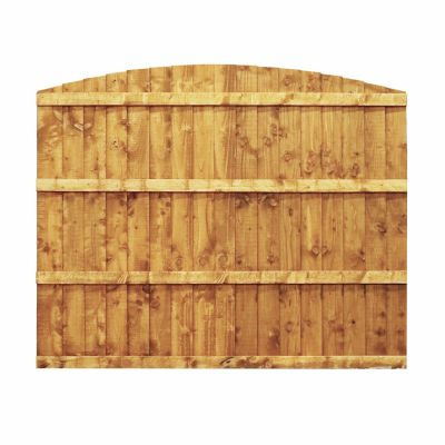 5ft x 6ft Featheredge Dome Top Fence Panel