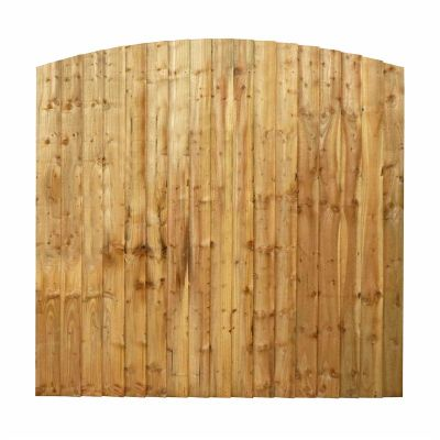 6ft x 6ft Featheredge Dome Top Fence Panel