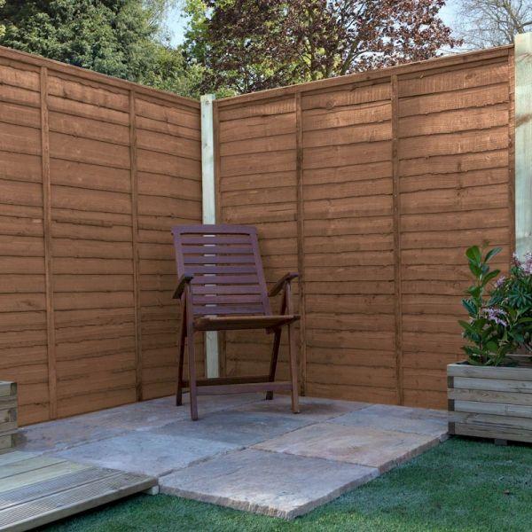6ft x 6ft Waney Edge Lap Pressure Treated Fence Panel