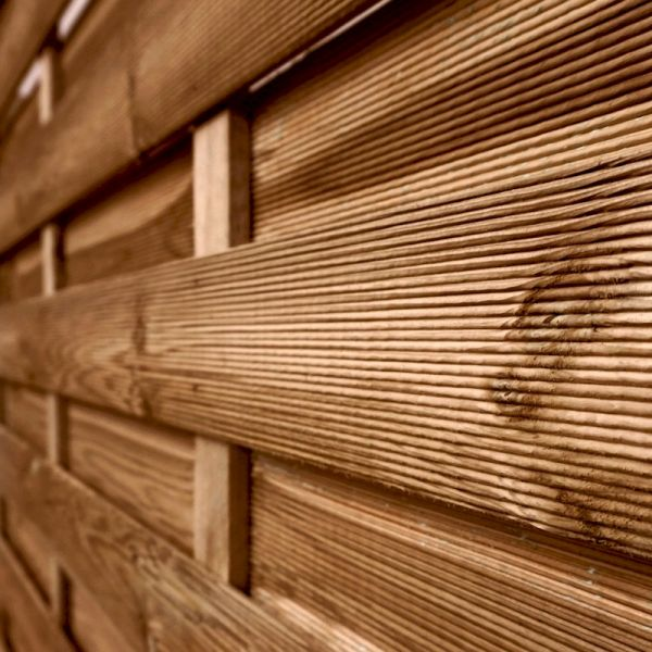 Image of 1.8m x 1.8m Horizontal Weave Pressure Treated Fence Panel
