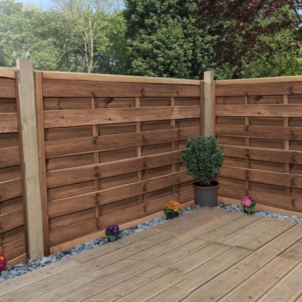 Image of 1.2m x 1.8m Horizontal Weave Pressure Treated Fence Panel