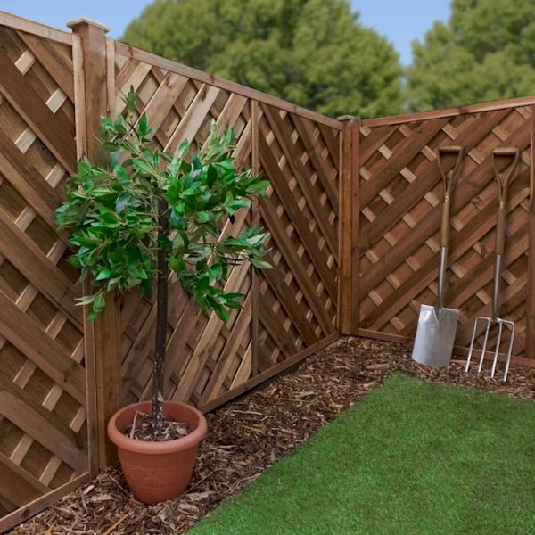 Image of 1.2m x 1.8m Chevron Weave Pressure Treated Fence Panel