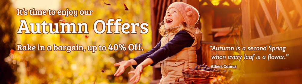 Autumn Offers - Rake in a bargain this Autumn
