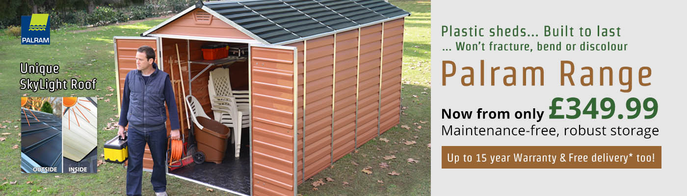 Plastic sheds.... Built to last... Won't fracture, bend or discolour