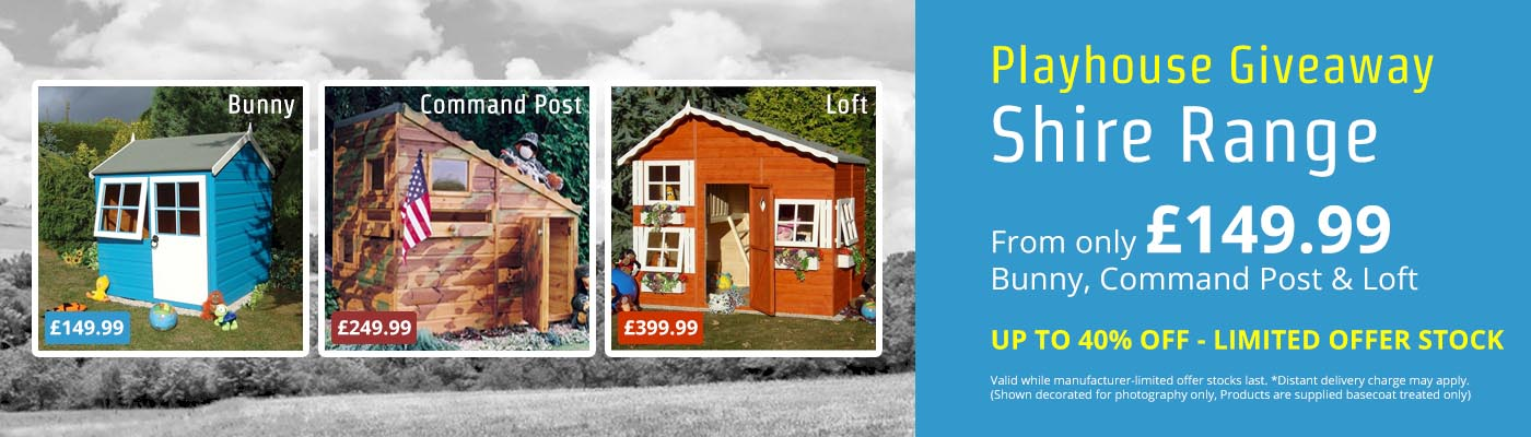 Playhouse Giveaway - UP TO 40% OFF Shire Playhouses!