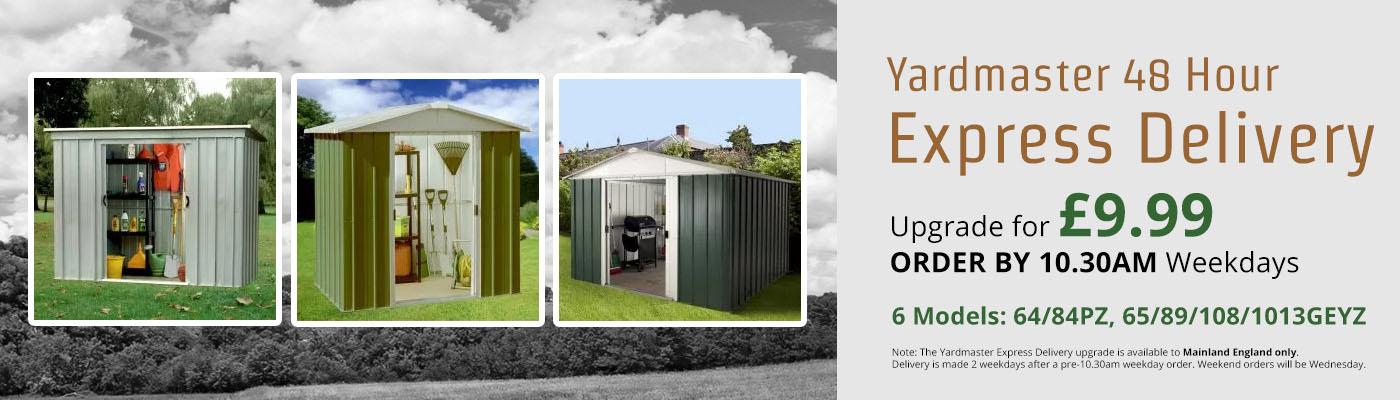 Yardmaster 48 Hour Express Delivery - Only £9.99 - 6 Models (64/84PZ, 65/89/108/1013GEYZ)