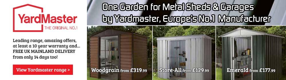 Yardmaster Metal Sheds and Garages. View range >