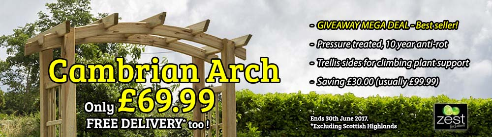 Zest Cambrian Arch - Only £69.99!