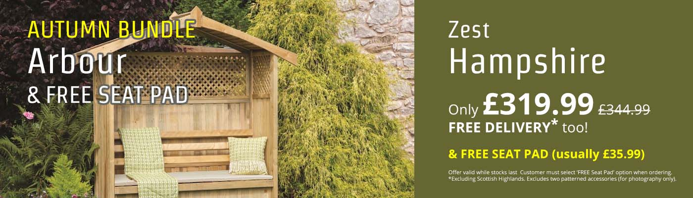 Autumn Bundle - Hampshire Arbour & FREE Seat Pad - Only £319.99!