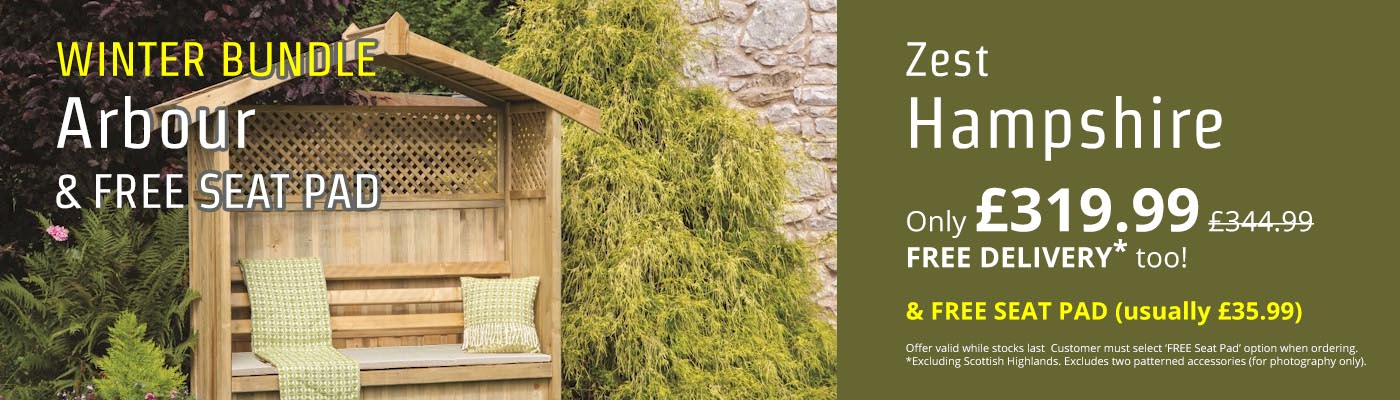 Winter Bundle - Hampshire Arbour & FREE Seat Pad - Only £319.99!