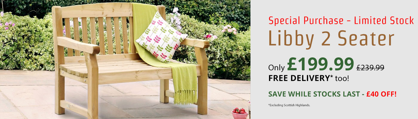 Zest Libby 2 Seater Bench - Only £199.99!