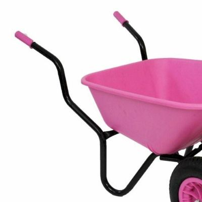 Bullbarrow Bronco Duo Pink Wheelbarrow