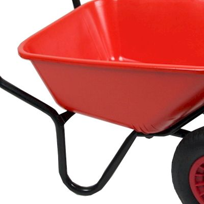 Bullbarrow Bronco Duo Red Wheelbarrow