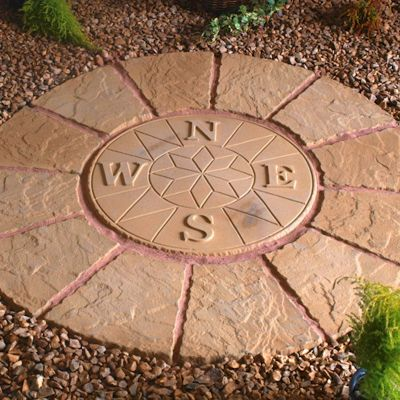 Deco-Pak Compass Rotunda Buff Gold Paving Kit 1.2m