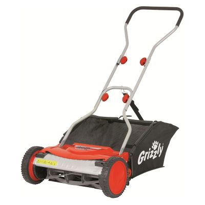 Grizzly Manual Lawn Mower 38cm Cut