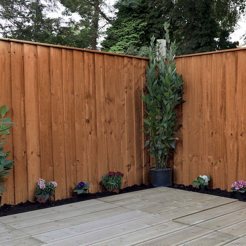 The 3ft Tall Contemporary Double Slatted Fence Panel From Forest Is A Substantial And Stylish Garde Slatted Fence Panels Fence Panels Contemporary Fence Panels
