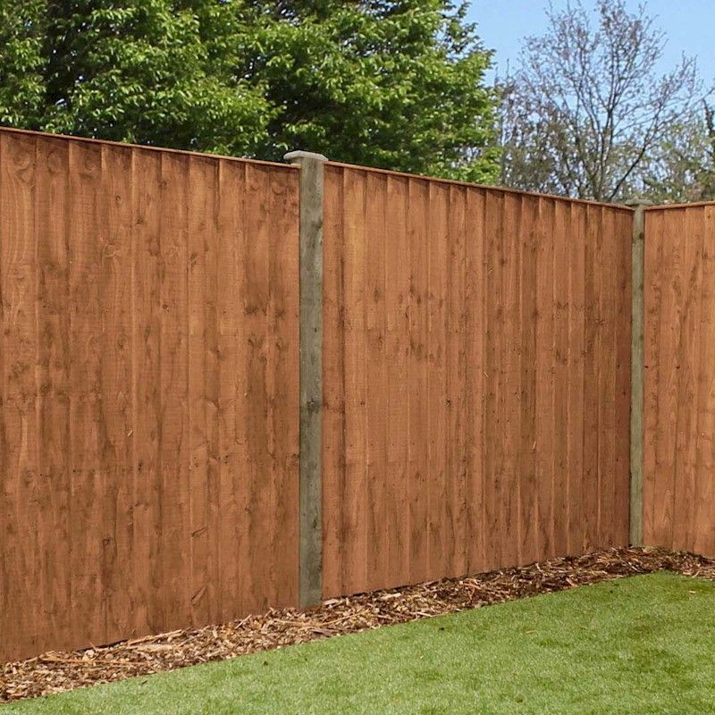 5ft x 6ft Featheredge Pressure Treated Fence Panel