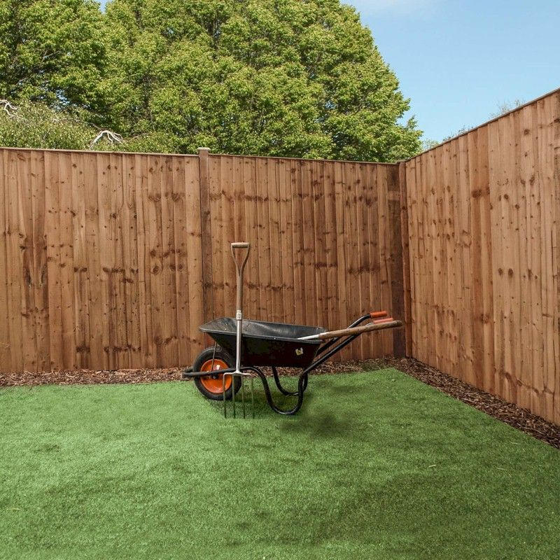 6ft x 6ft featheredge pressure treated fence panel one. Black Bedroom Furniture Sets. Home Design Ideas