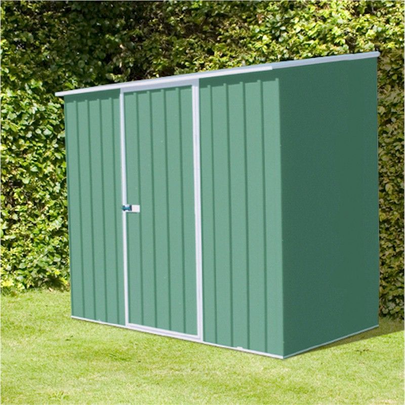 Absco Space Saver Pale Eucalyptus Metal Shed 2.26 x 0.78m
