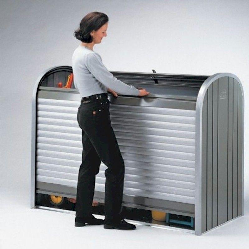 Biohort Storemax 120 Silver Roller Shutter Box