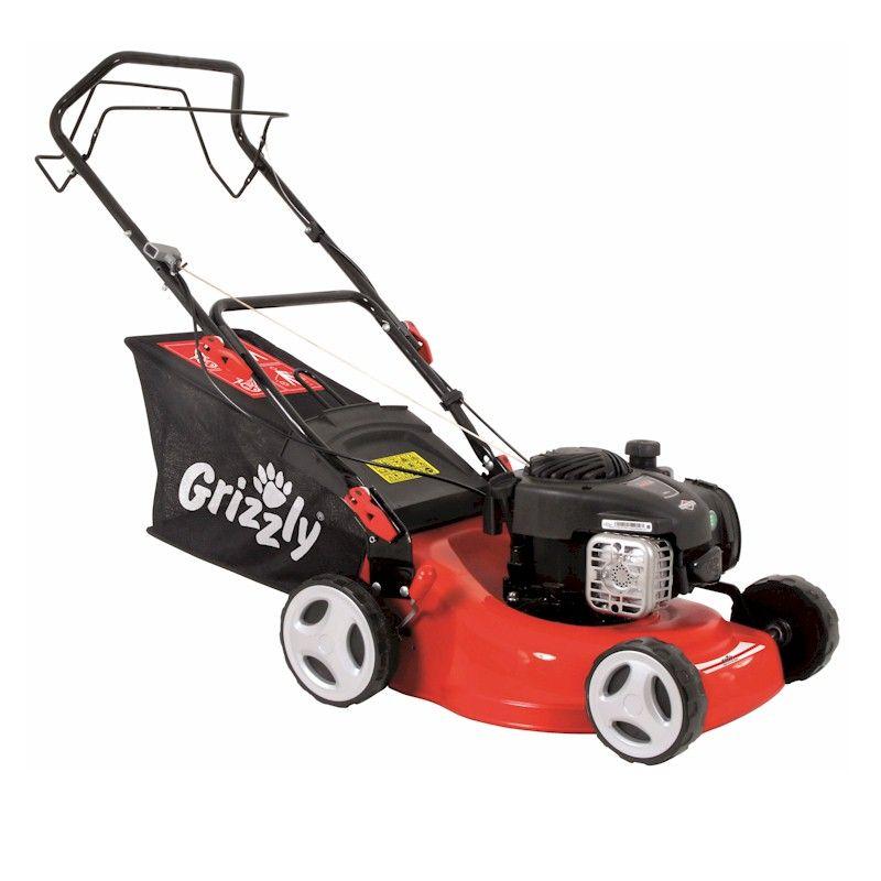 Grizzly 125cc Petrol Lawn Mower 42cm Cut