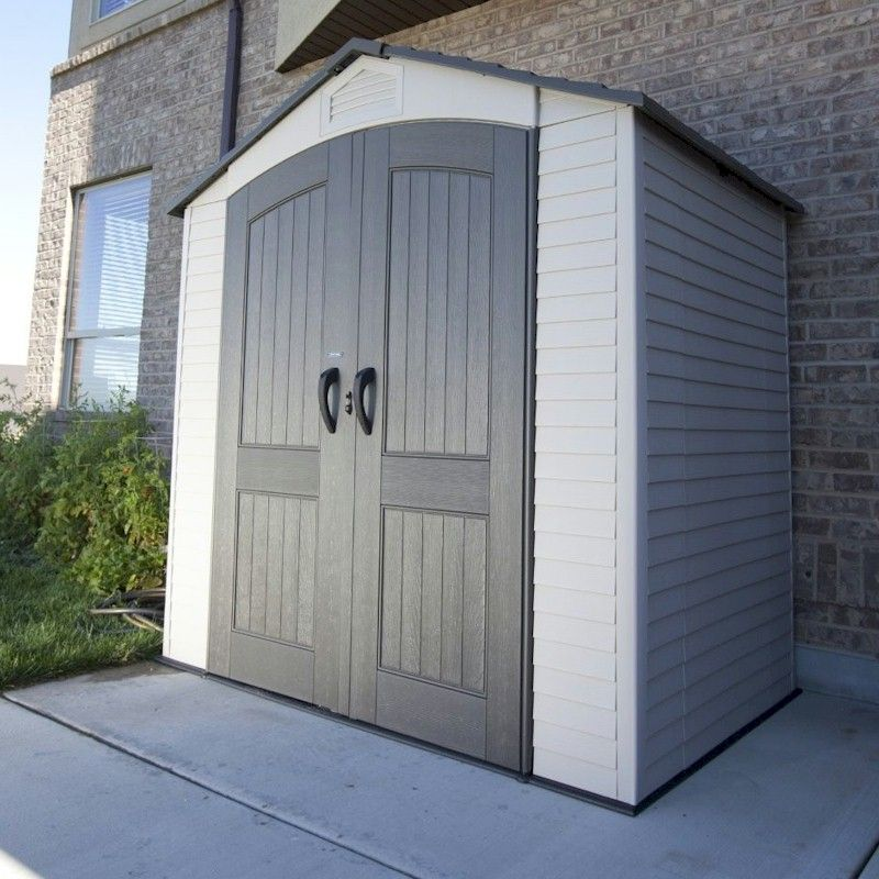 lifetime apex plastic shed 7x5