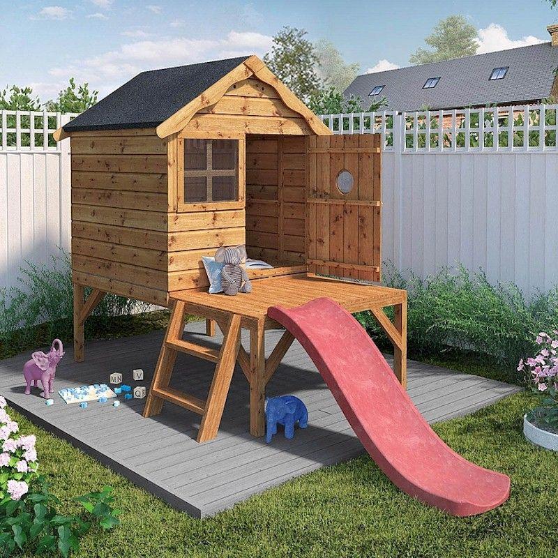 Mercia Snug Tower Slide Playhouse