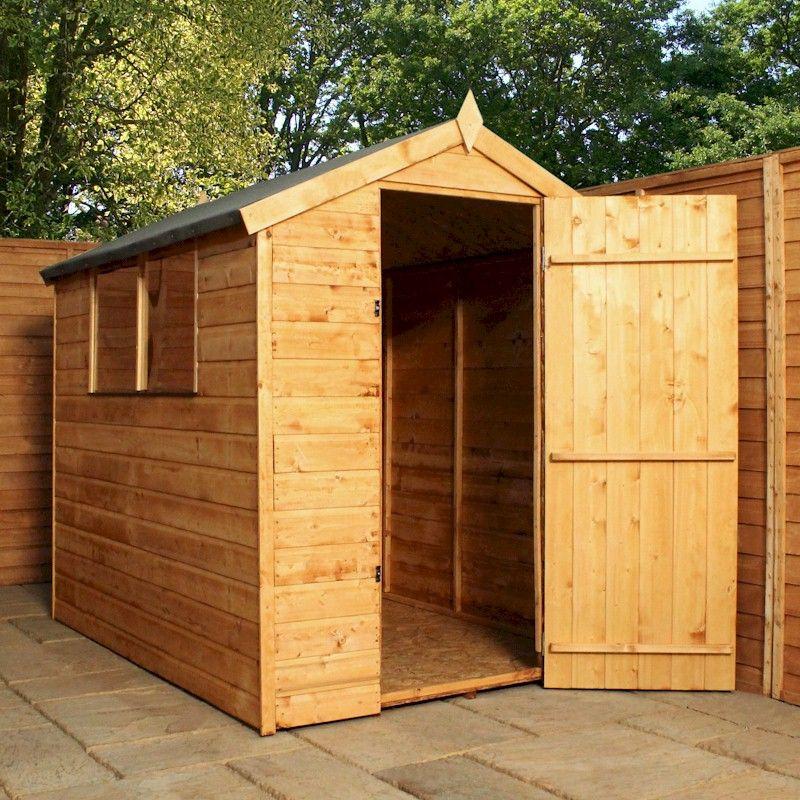 Garden Sheds 6x4 millbrook classic shiplap apex shed 6x4 - one garden