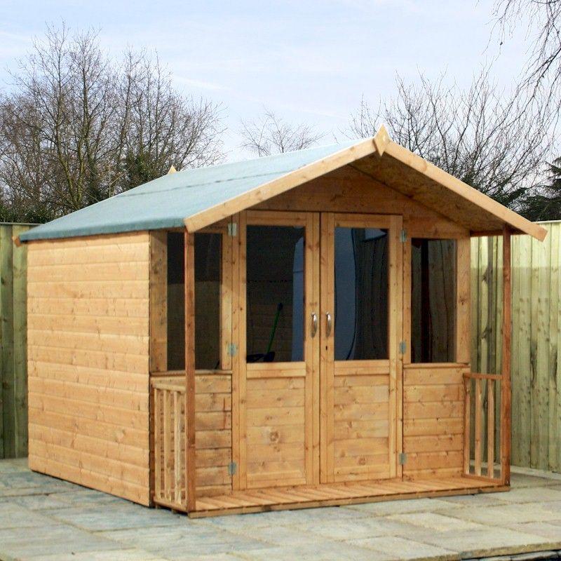 Mercia Traditional Veranda Summerhouse 8x7