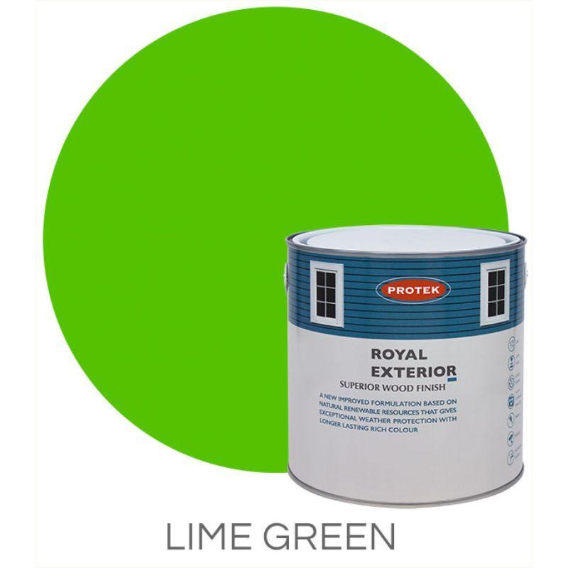 Protek Royal Exterior Wood Stain Lime Green 1 Litre One Garden