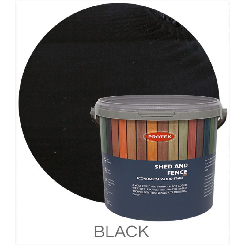 Protek Shed and Fence Stain - Black 25 Litre