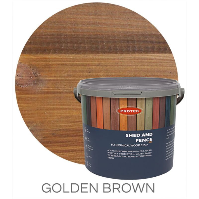 Protek Shed and Fence Stain - Golden Brown 25 Litre