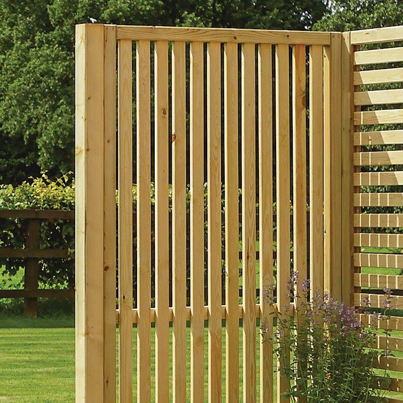 Rowlinson Garden Creations Vertical Slat Screen - 2 Pack