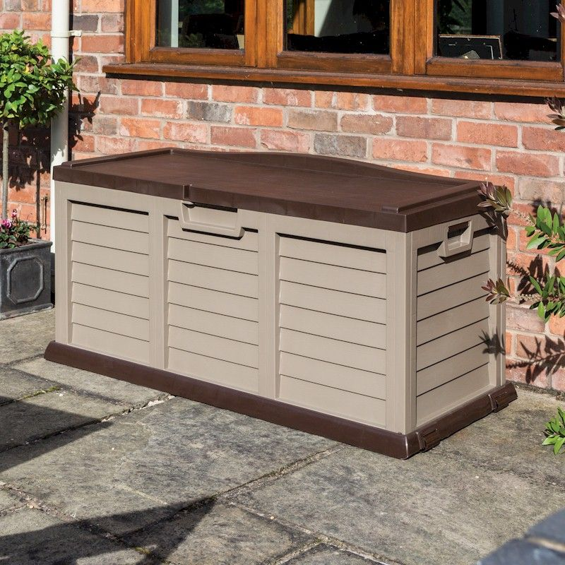 Rowlinson Plastic Storage Box-Bench Mocha