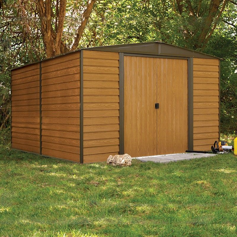 Rowlinson Woodvale Metal Apex Shed 10x12