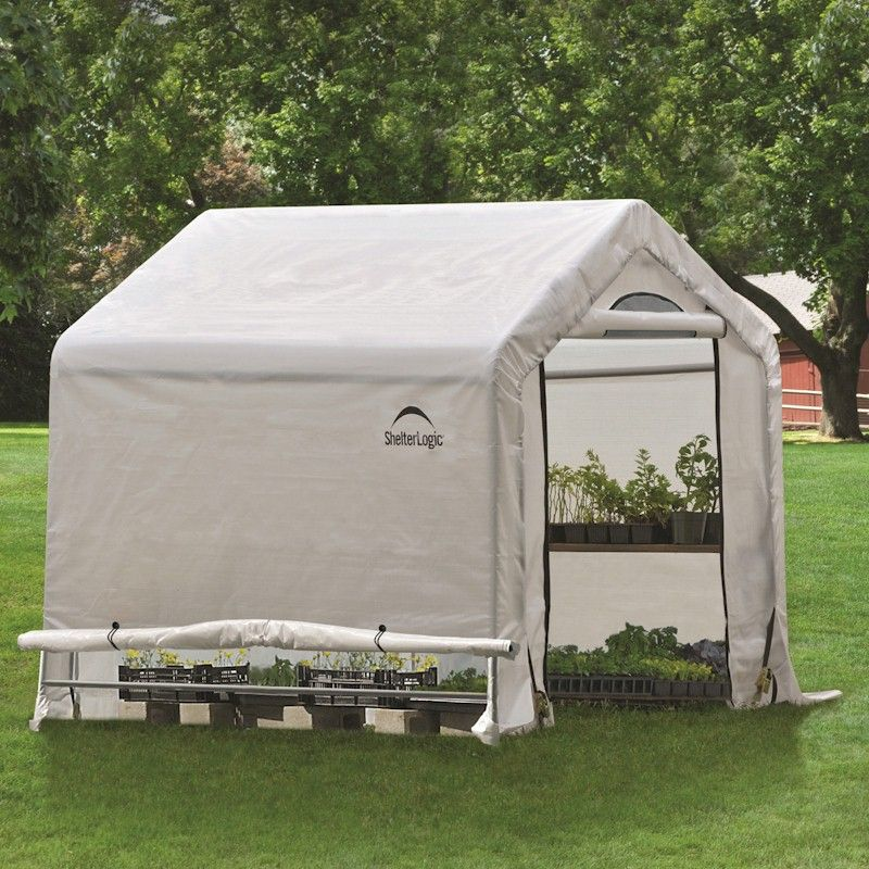Shelterlogic 5 6 Greenhouse : Shelterlogic greenhouse in a box one garden