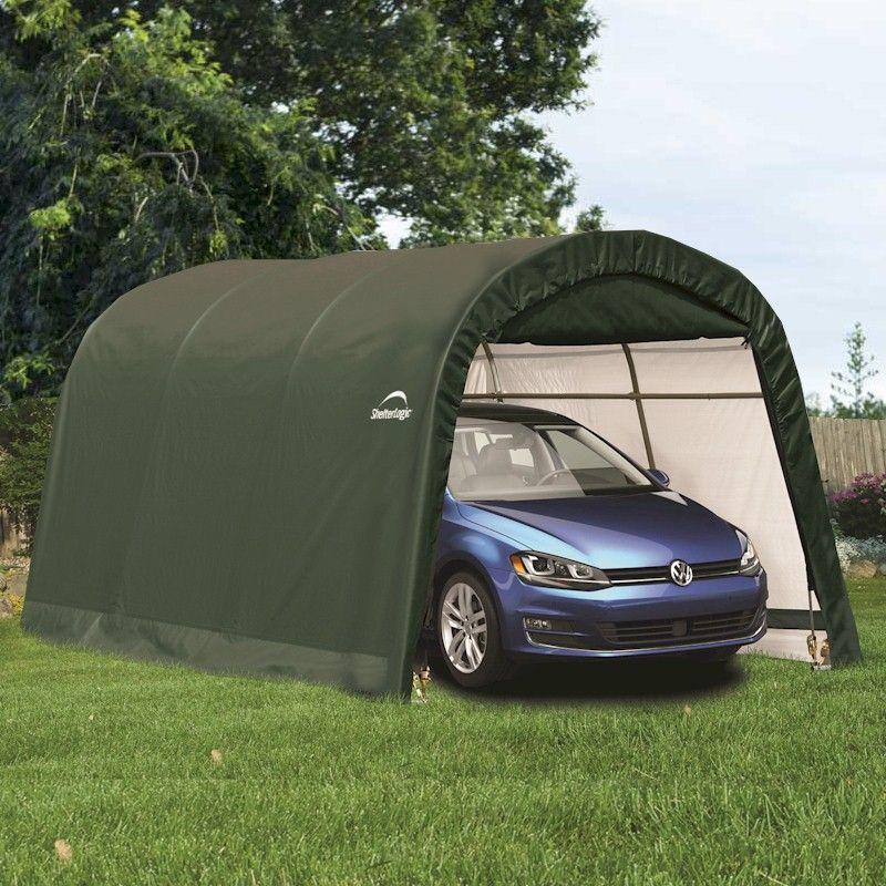 Acrylic Car Shelters : Shelterlogic round top auto shelter one garden